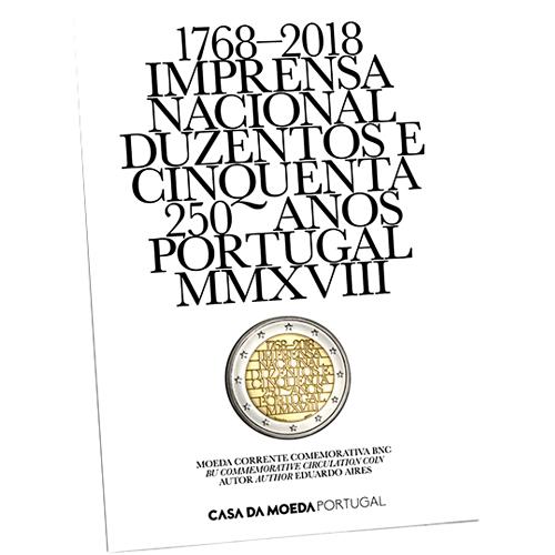 Portugal  2,00€ 2018  IMPRENSA NACIONAL (B.N.C.)