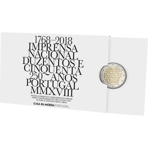 Portugal  2,00€ 2018 THE NATIONAL PRINTING OFFICE (Proof)