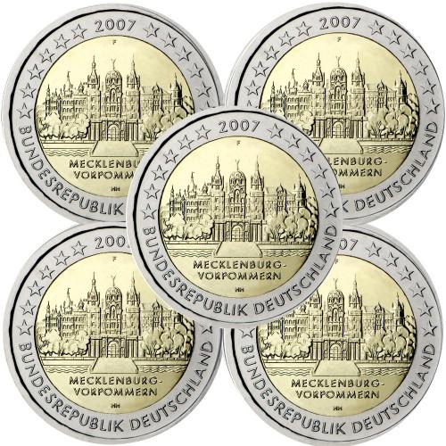 Alemanha 2€ 2007 Castelo de Schwerin