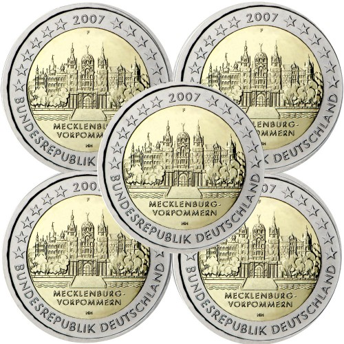 Germany 2€ 2007 Schwerin Castle