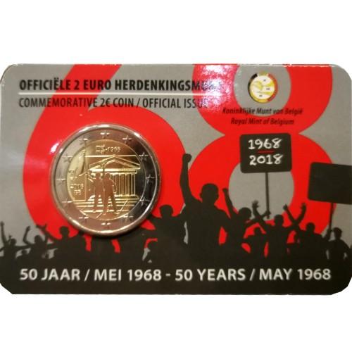 Bélgica 2€ 2018 (Maio de 1968 protestos civis)