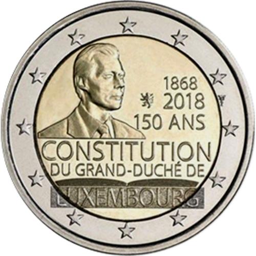 Luxemburgo 2€ 2018 Aniversário da Constituição