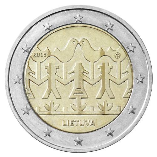 Lituânia 2€ 2018 (100 Anos dos Est. Bálticos)