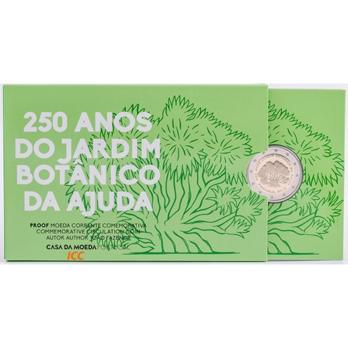 Portugal  2,00€ 2018 250 Years Ajuda Botanical Garden (Proof)