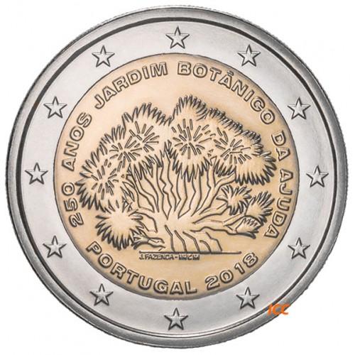 Portugal  2,00€ 2018  250 Anos Jardim Botânico (Proof)