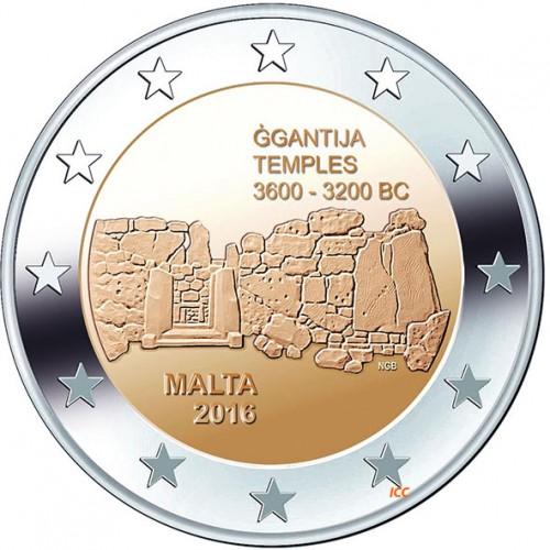 Malta 2€ 2018 Templo Mnajdra