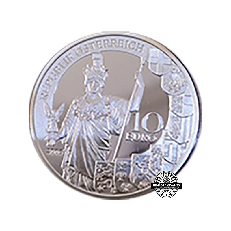 Áustria  10€  60ºAniv. da República  2005 Proof