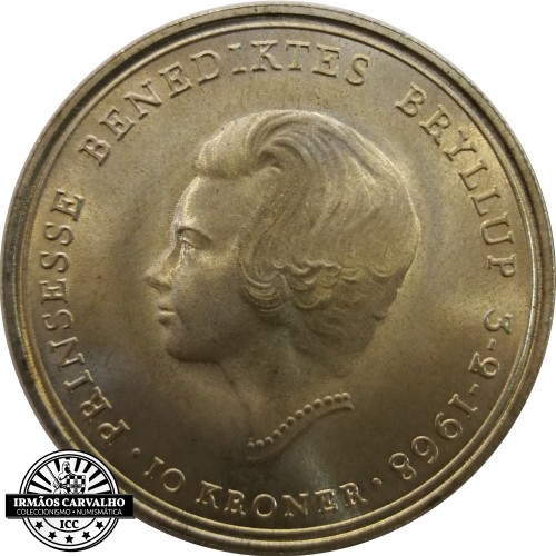 Dinamarca - 10 Kroner 1968