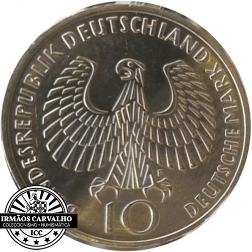 Alemanha 10 Marcos 1972 F (J. O. Munich)