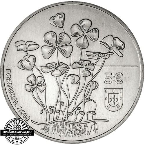 Portugal 5 euros 2018 O TREVO DE QUATRO FOLHAS (PRATA PROOF)