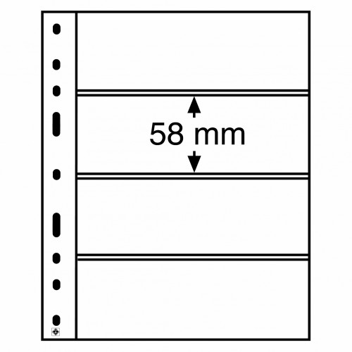 Folhas A5 OPTIMA Transparentes com 4 Divisórias