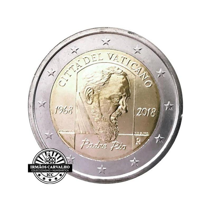 Vaticano 2€ 2018 50º Aniv. da morte de Padre Pio