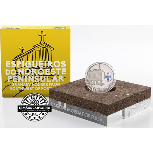 Portugal - 2018 2,50 Euro Granary Houses from NorthWest  ( silver Proof)