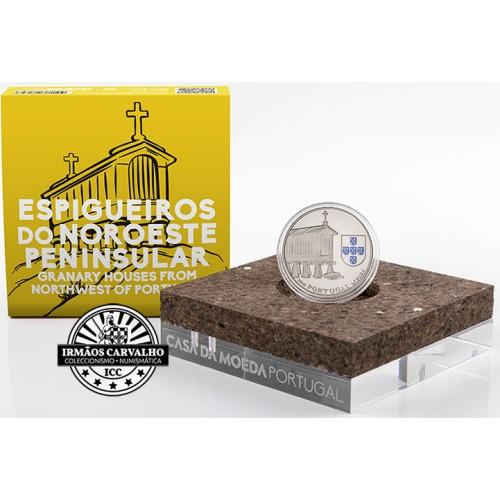 Portugal - 2,50€ 2018 Espigueiros do Noroeste  (PRATA PROOF)