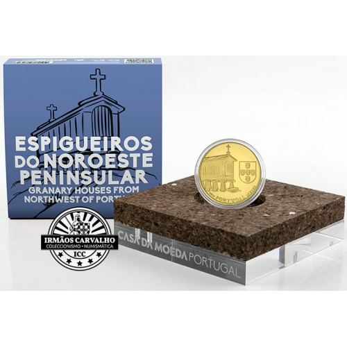 Portugal - 2,50€ 2018 Espigueiros do Noroeste  (OURO PROOF)