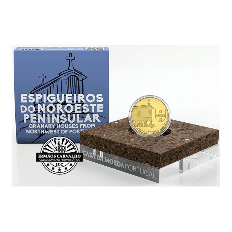 Portugal - 2,50€ 2018 Espigueiros do Noroeste  (OURO PROOF)