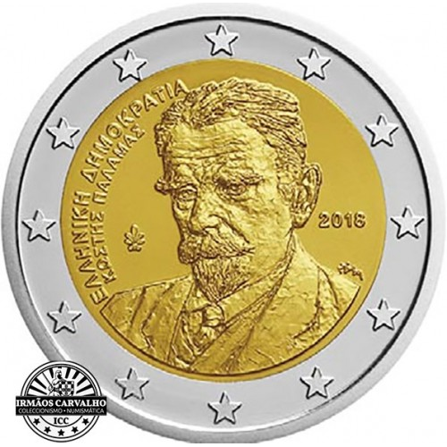 Greece 2 € 2018 (Kostis Palamas)