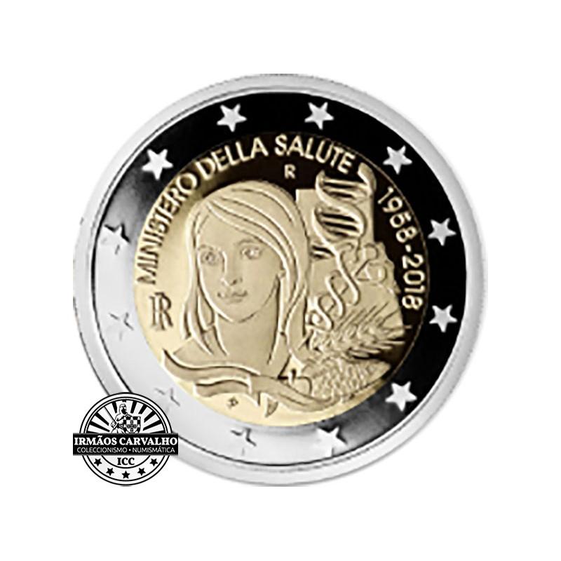 Itália 2€ 2018 60º Aniv. Min. da Saúde