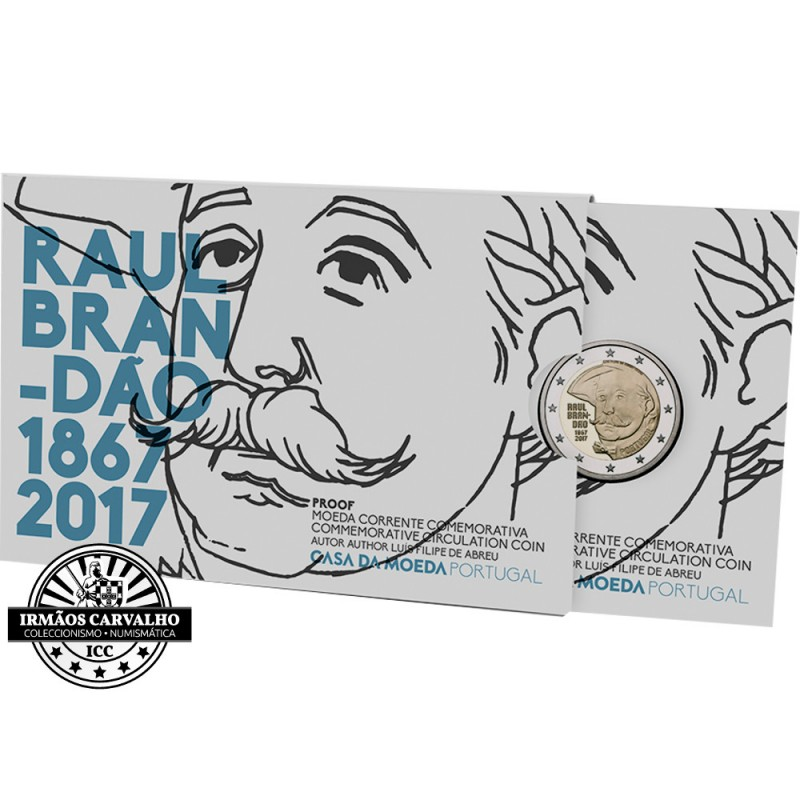 Portugal  2 euros 2017 Raúl Brandão