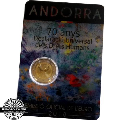 Andorra 2€ 2018 (Direitos Humanos)