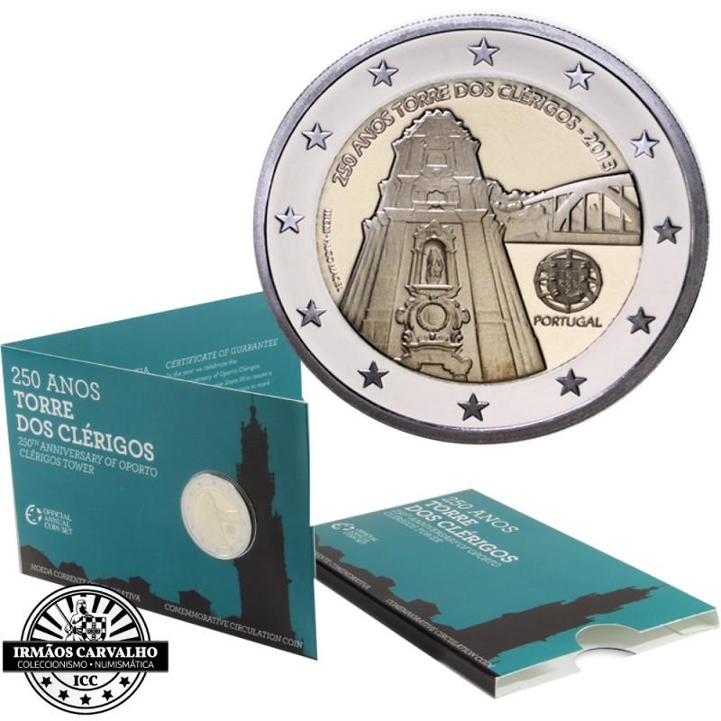 """Portugal 2€ BNC 2013 """"Torre dos Clérigos"""" Proof"""