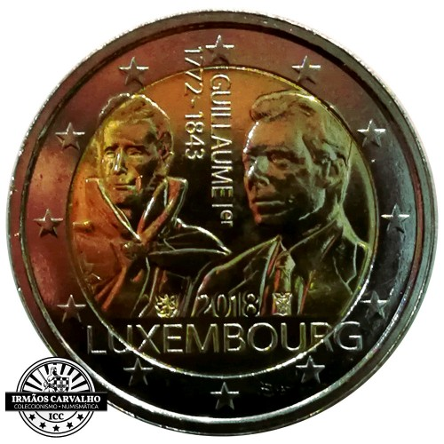 Luxemburgo 2€ 2018 125 Anos da Morte de Guilherme I
