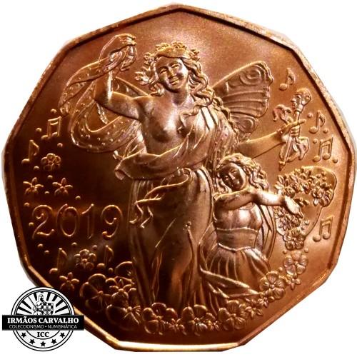 Áustria  5€ 2019 Alegria de Viver