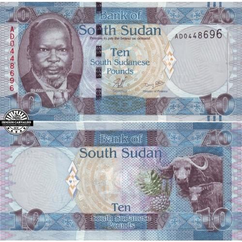 Sudão do Sul 10 Libras N/D (2011)