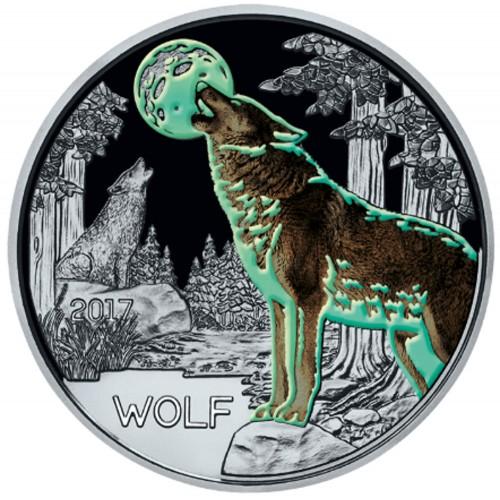 Áustria  3€  2017 o lobo