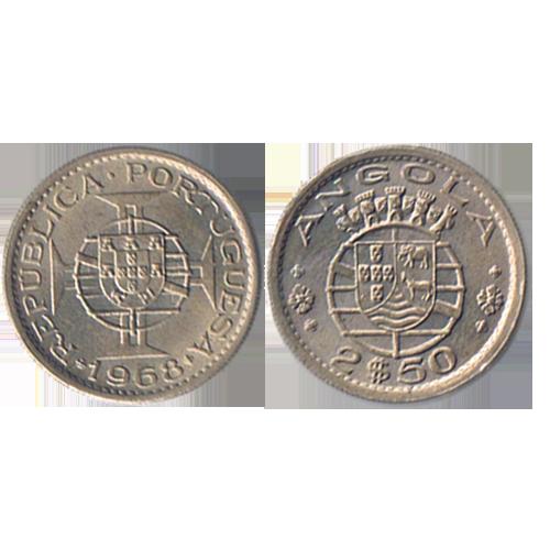 Angola 2$50 1968