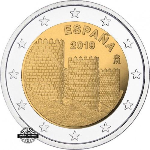 Espanha - 2€ 2019 Muralhas de Ávila