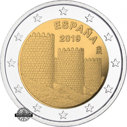 Spain 2€ 2019 Walls of Ávila