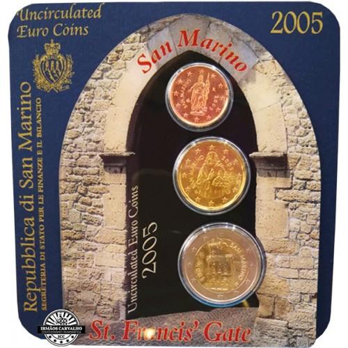 San Marino  Set of 3 coins 2005