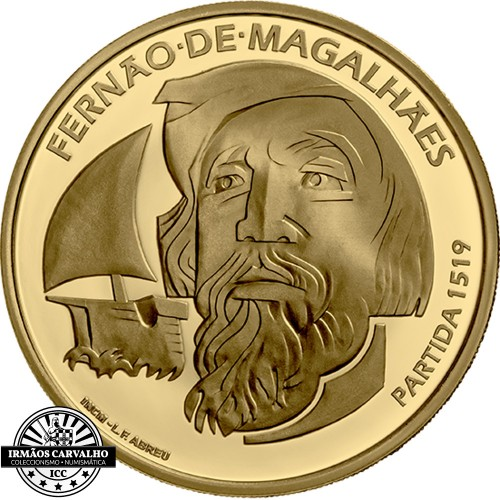 Portugal 7.5€ 2019  FERNÃO DE MAGALHÃES (ouro Proof)