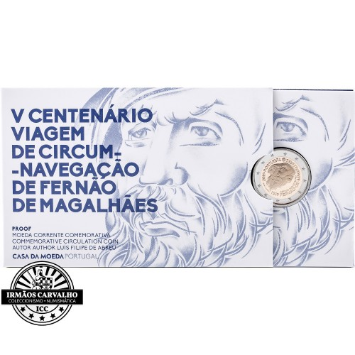 Portugal  2,00€ 2019 Proof MAGALLAN CIRCUM NAVIGATION