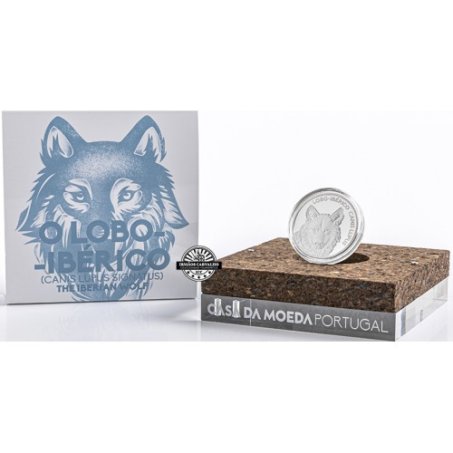 Portugal - 2019 5 Euro Iberian Wolf (Silver Proof)