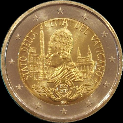 Vaticano 2 euros 2019