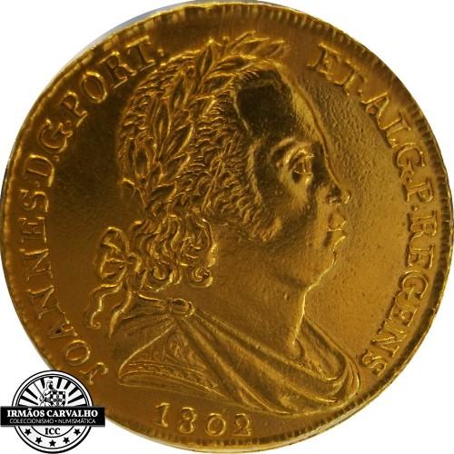 Ioannes P.R. 1802 6400 Reis (Rare)