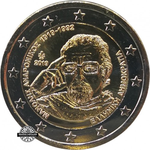 Grécia 2 € 2019Manolis Andronikos