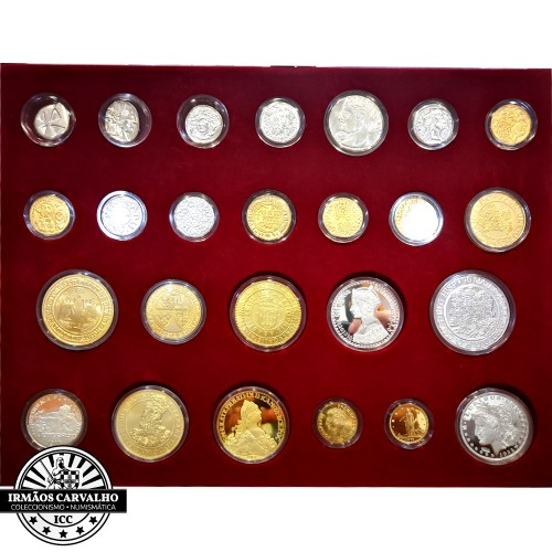 "24 Silver Medals Set ""The History of Portuguese Coins"""