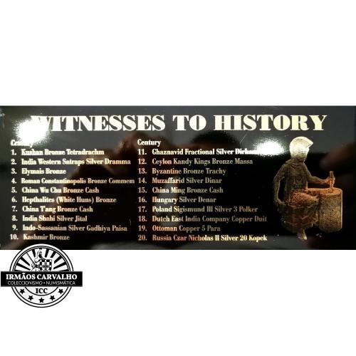 """Colecção de 20 Moedas """"Testemunhos da História"""""""
