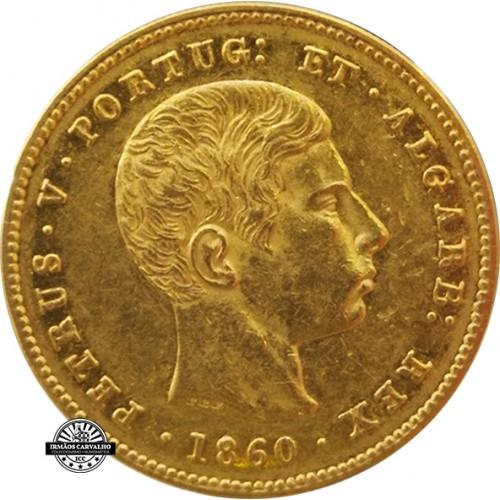 D. Pedro V - 5000 Réis 1860 (Ouro)