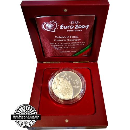 Portugal 8€ Proof 2004 Futebol é Paixão Prata Proof