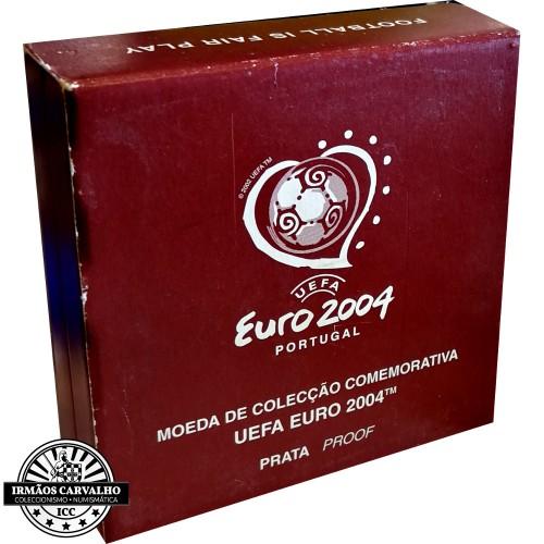 Portugal 8€ Proof 2004 Futebol é Festa Prata Proof
