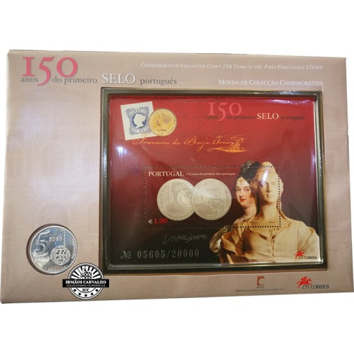 Portugal 5€ 150 Years of the 1st Stamp 2003