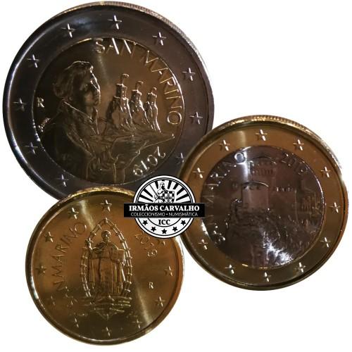 San Marino 2019 Coins Set (2€, 1€ & 0.50€)