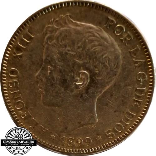 Spain 1899 5 Pesetas