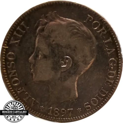 Spain 5 Pesetas 1897 *97*