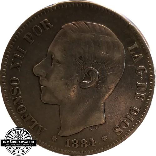 Spain 5 Pesetas 1879 ( 79 )