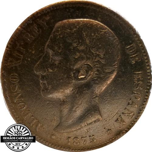 Spain 5 Pesetas 1875